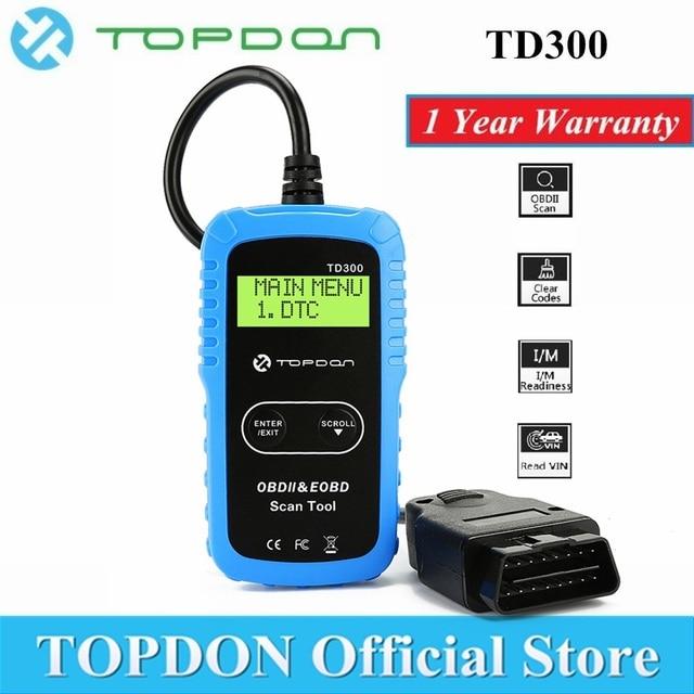 Special Offers TOPDON TD300 OBD2 Scanner Auto Car Diagnostic Tool Code Reader Scan Automotive Autoscanner OBDII OBD 2 Scaner Autel AL301 MS300