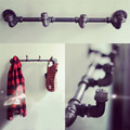 AMERICAN COUNTRY LOFT COAT HAT RACK IRON SHELVES CLOTHES RACK DISPLAY A RETRO INDUSTRIAL PIPE WALL DISPLAY RACK-Z4