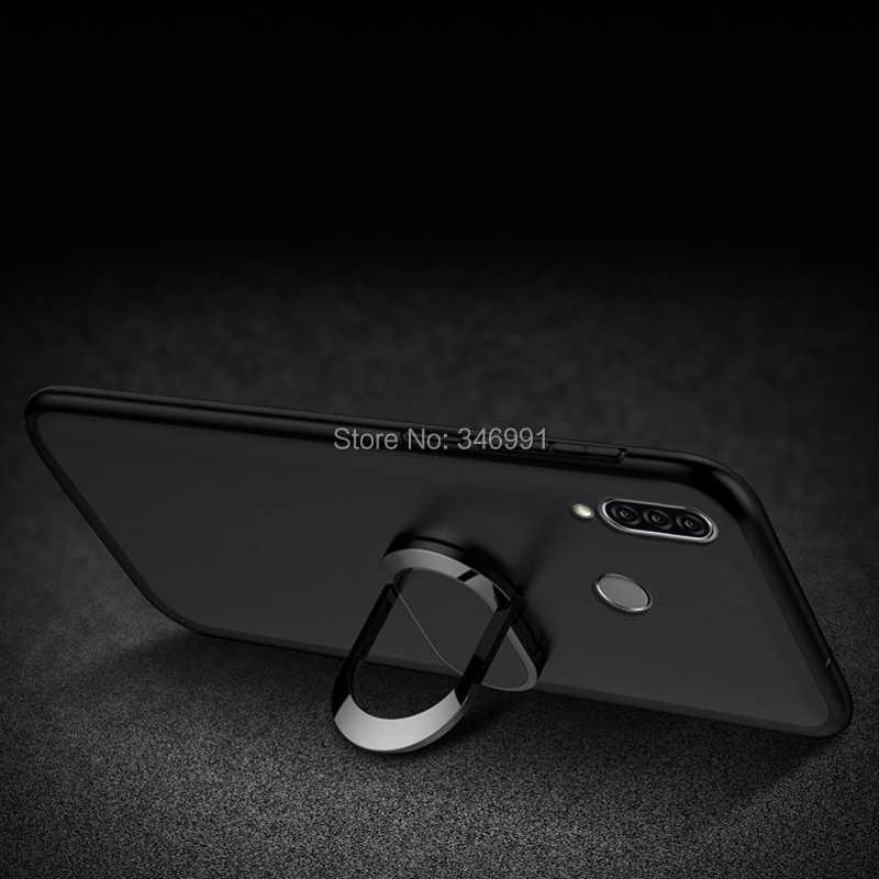 Bao da cho Lenovo Z6 Lite L38111 Ốp Lưng sang trọng 6.3 Mềm Mại nhựa Kim Loại Nhẫn Funda cho Lenovo Z6 Lite nam Bản Ốp Lưng