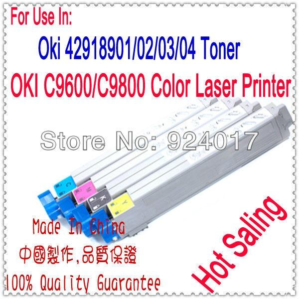 Color Toner Refill For OKI C9600 C9800 Printer.For Okidata C9800 C9600 Toner Cartridge,For Oki Printer Laser Toner 9600 9800 chip for oki data c 9650xf chip for oki data 9850 mfp for okidata c9600 hdtn chip new laser transfer belt chips free shipping