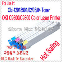 Color Toner For OKI C9600 C9800 Laser Printer 42918904 03 02 01 Toner For Okidata 9600