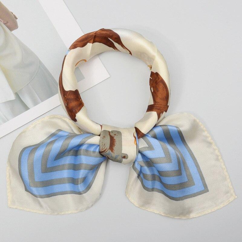 AS  FR82362 Marque de luxe Petit carre Foulard en soie femmes   eBay adaf548532b