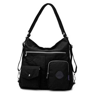 Image 5 - Preppy Style femmes Nylon sac à dos naturel sacs décole pour adolescent décontracté femme sacs à bandoulière Mochila voyage Bookbag sac à dos