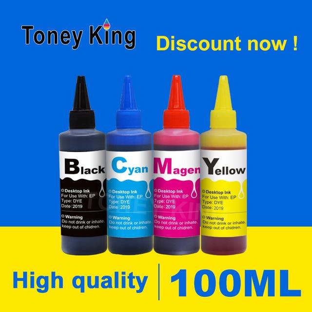 Toney King 100 мл принтер inkt voor СНПЧ бак набор для наполнения чернил Замена для hp для Epson для canon pixma deskjet контейнер с чернилами