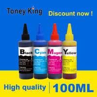 Toney King 100ML Printer inkt voor ciss Kit de recarga de tinta de tanque reemplazo para HP para Epson para canon pixma deskjet botella de tinta
