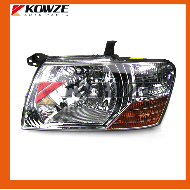 White Head Lamp Head Light For Mitsubishi Pajero Montero Shogun III 2000 - 2008 head lamp