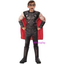 New Thor Avengers Endgame Muscle Boys Costume Cosplay For Kids Superhero Halloween