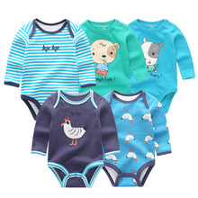 5 Teile/los winter langarm neugeborenen baby body baumwolle baby overall ropa bebe weiß baby junge mädchen kleidung