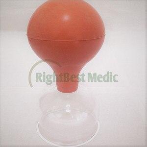 Image 3 - 2 tasses de haute qualité verre médical et caoutchouc ventouses sous vide ventouses Massage corporel ventouses soins de santé outils de beauté 5 tailles