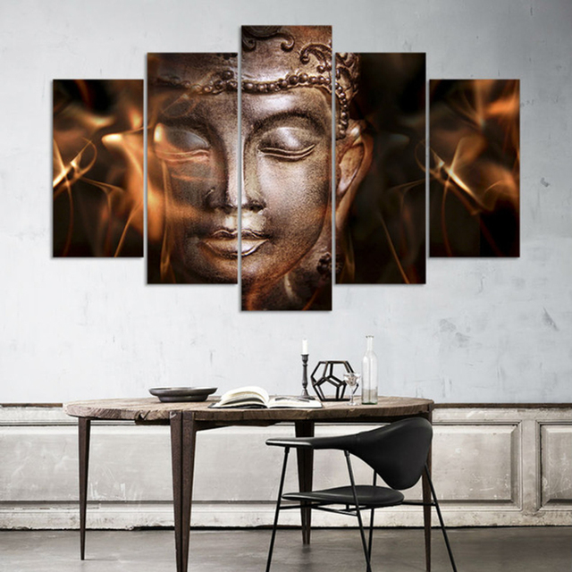 Frame Wall Art Home Decor Poster Canvas 5 Panel Religion Culture Buddha For Living Room Modern  sc 1 st  AliExpress.com & Frame Wall Art Home Decor Poster Canvas 5 Panel Religion Culture ...