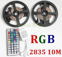 10M LED Strip 3528 RGB Flexible Light Non Waterproof DC 12V 300LEDs with 44 Keys IR Remote Controller Kit
