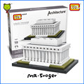 Mr.Froger LOZ Lincoln Memorial Mini Block World Famous Architecture Series Building Blocks Classic Toys Model Gift Museum USA