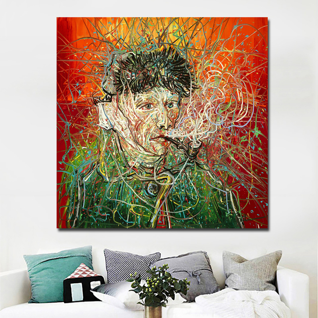 Selflessly Abstract Art Wall Art Posters And Prints Van Gogh Self Portrait Canvas Painting Wall Picture
