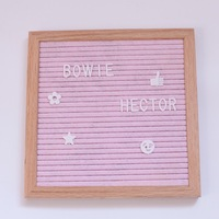 1pcs felt letter board diy wood frame felt message sign board 10X10