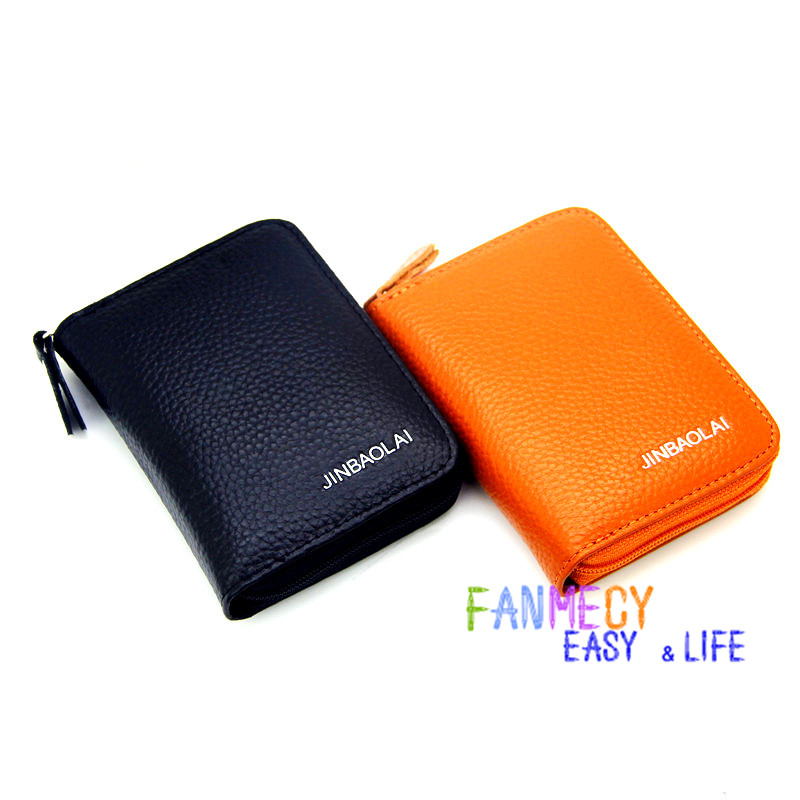 Fashion Unisex Genuine Wallets Card Holder Pocket Purse Key Case Pouch Mini Handbag Coin purse