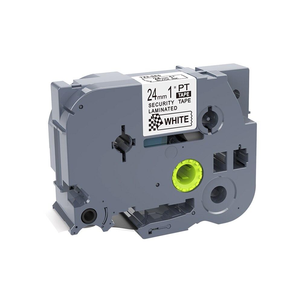 1PCS 24mm Black On White TZe-SE5 TZ-SE5 Tz-se5 Label Tapes Compatible For PT330 PT1600 PT2710 PT-H500 Ptouch Label Printers