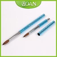 1 Adet #8 akrilik sable nail art fırça 100% saf kolinsky fırça çizim parmak ve ayak