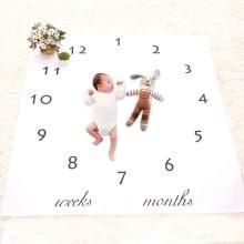 Selimut Bayi Cute Floral Bayi Lahir DIY Fotografi Latar Belakang Props Blanket Bayi Swaddle Bungkus Katil Buaian Kuilt Kanak-kanak Tuala Mandi