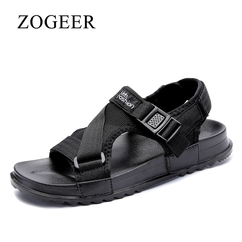Sandals Men, Summer Breathable Casual Beach Shoes Mens, Large Size 38-46 Fashion Designer Mens Beach Sandals, ZOGEER Brand