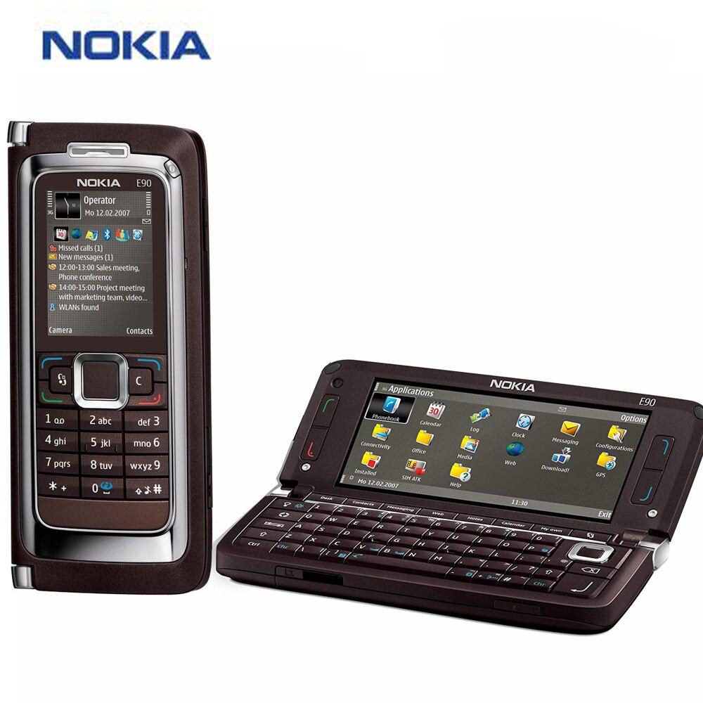 Original Bnrand New 4 inch Nokia E90 Mobile Phone 128MB 1500mAh Phone