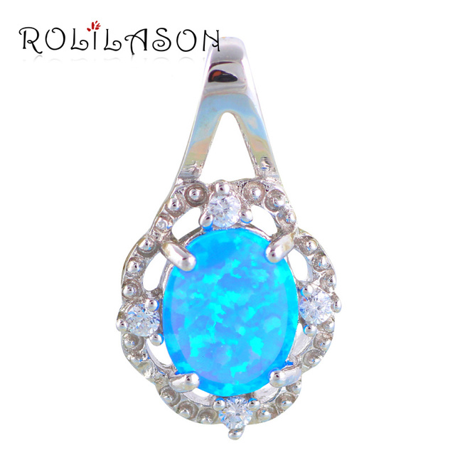 Lowest prices online top quality blue fire opal silver stamped lowest prices online top quality blue fire opal silver stamped pendants fashion jewelry for women op343 mozeypictures