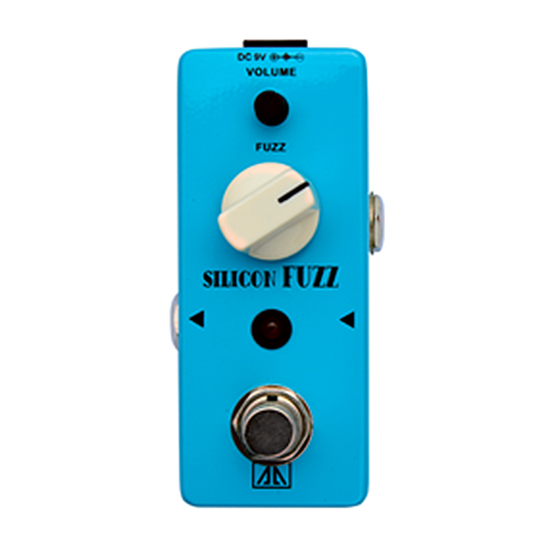 Silicon Fuzz Effect Pedal AA Series Vintage silicon transistor fuzz Effects for Electric Guitar  Fuzz Volume Control True bypass mooer ensemble queen bass chorus effect pedal mini guitar effects true bypass with free connector and footswitch topper