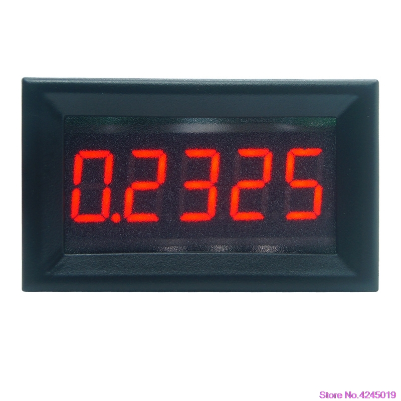 "New 0.36"" 5 Digits 0-3.0000A/0-50.000mA DC Ammeter Digital Current Panel Meter Built-in Shunt"