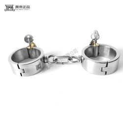 Stainless Steel Handcuffs BDSM Bondage Set Chastity Ankle Cuffs Adult Game Restraints Slave Erotic Adult Sex Toys for Couples