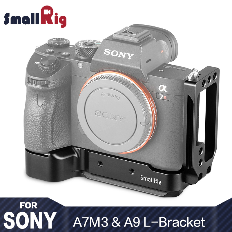 SmallRig A73 L placa para Sony A7M3 A7R3 L soporte para Sony A7III/A7RIII/A9 liberación rápida y placa lateral 2122