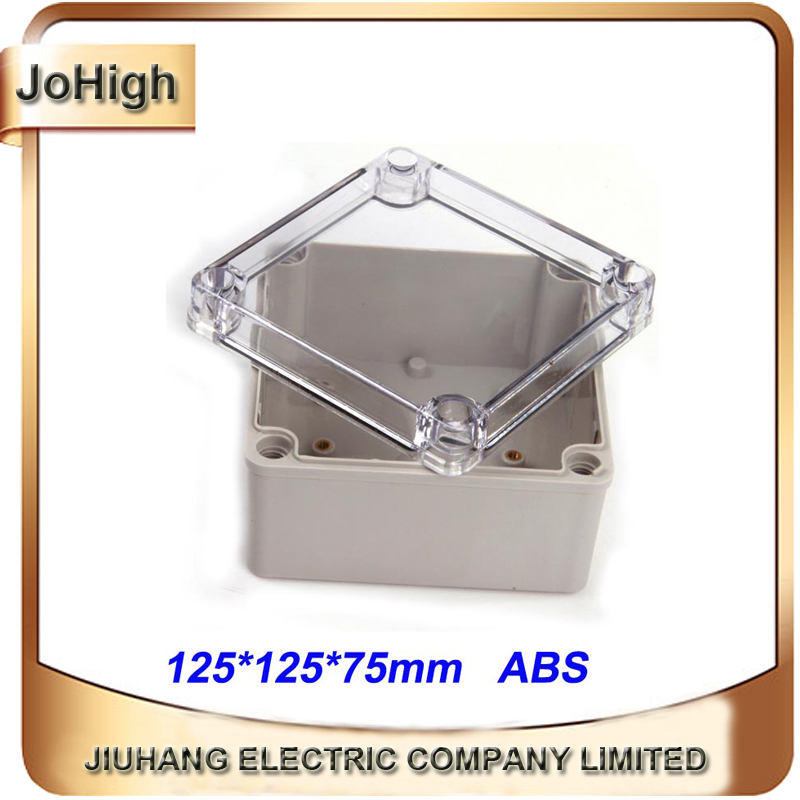 цены Free Shipping Top Quality PVC Cover ABS body Transparent Cover IP66 Plastic Enclosures For Power Supply 125*125*75mm