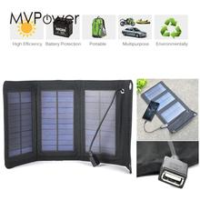 5W Foldable Solar Panel Battery Charger USB Power Bank Pack for Cellphone
