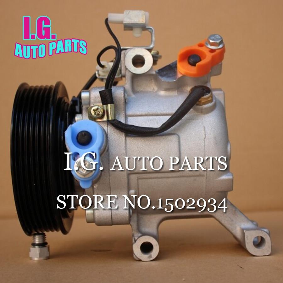 SV07C AC Compressor For Car Toyota Rush Daihatsu Terios 447190-6121 447160-2270 4471906121 4471602270 447260-0667 447260-5613 high quality auto air conditioning compressor sc06e pv4 for daihatsu for car toyota terios ac compressor with clutch