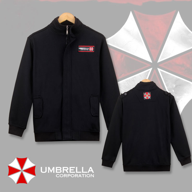 Resident Evil Biohazard Cosplay Costume Umbrella Logo Jacket Coat Men's Casual Zipper Sweatshirts Clothing
