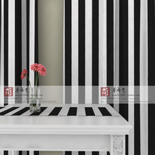 Ls-cl-013 5.5 black white stripe canvas curtain balcony customize curtain  Living room  Bedroom blackout curtain