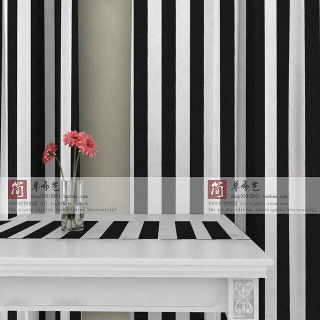 Ls cl 013 5.5 zwart wit streep canvas gordijn balkon aanpassen ...