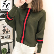 2017 Winter Autumn Patchwork Sweaters And Pullovers Women Casual Batwing Sleeve Sweaters Loose Long Sleeve Jumper Mujer