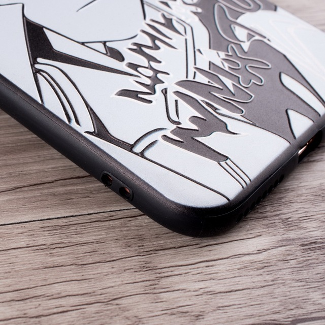 Naruto Black and White Phone Case For iPhone Silicone Back Cover