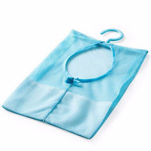 Newest Storage Bathroom Storages Clothespin Mesh Bag Hooks Hanging Bag Organizer Shower Bath New C7727(China)