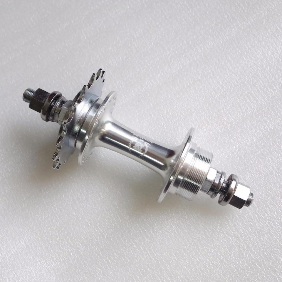 Silver TRACK BIKE HUB SET 32 Hole SEALED Fixed//Freewheel Single Spd High Flange