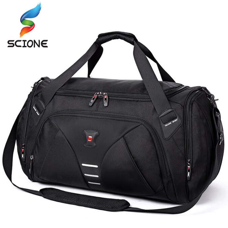Hot Large Multi-function Outdoor Training Sports Gym Bag For Men Women Fitness Shouder Bag With Shoes Pocket Travel Yoga Handbag