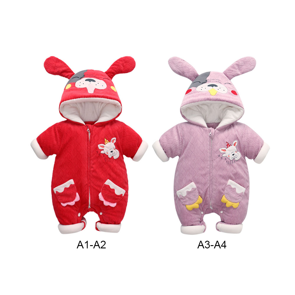 MrY Winter   Rompers   Newborn Baby Boys Girls Baby Long Sleeve Warm Hoodies Jumpsuits for Baby Toddler Velvet Cotton Clothing
