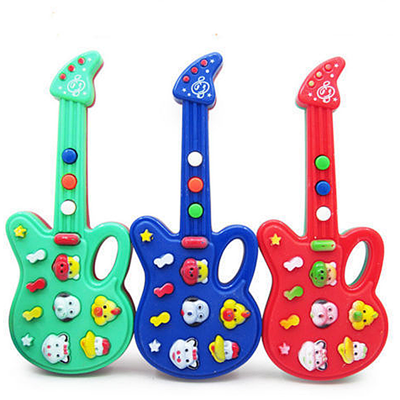 Baby Kids Electronic Guitar Toys Children Small Musical Instrument Nursery Rhyme Music Educational Toy Gift