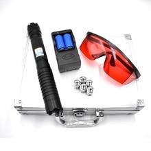 цены High Power laser pointer Burning Blue Laser Torch 445nm 10000m Focusable Laser sight Pointer Flashlight burn match lit cigarette
