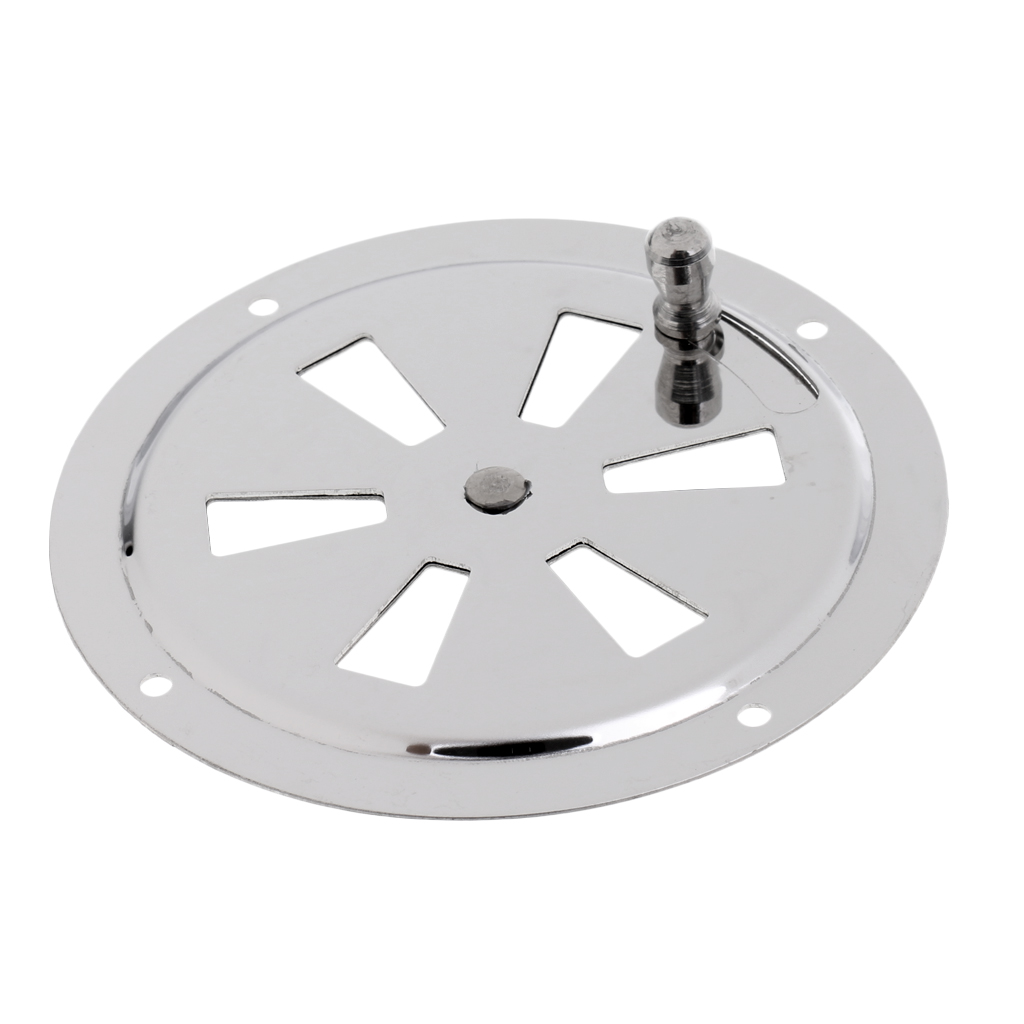 Image 4 - 2019 New Boat Stainless Steel Butterfly Ventilator Cover Round Louvered Vent 4 Inch Outer Diam With Side Knob Boat Hardware-in Marine Hardware from Automobiles & Motorcycles