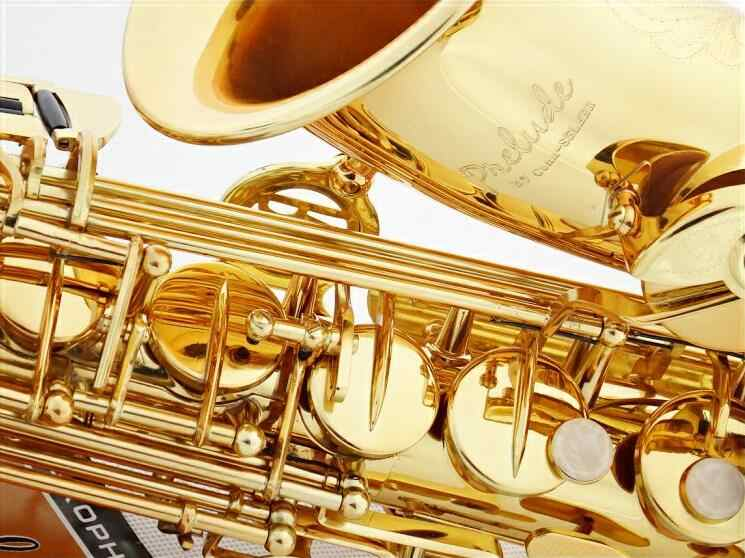 AS-710 Gold Lacquer Conn Selmer Alto Saxophone Eb Tune Flat Saxofone Brass  Music Instruments with Mouthpiece case