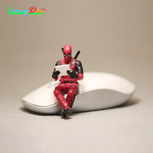 Hot Toys for X-Mannen Deadpool 2 Action Figure Zithouding Model Anime Mini Decoratie PVC Collectie Beeldje Speelgoed model