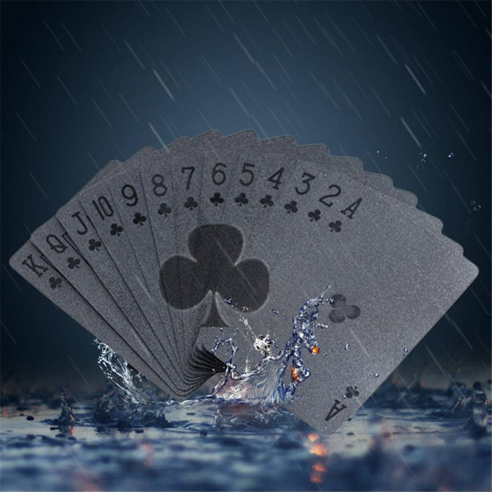 Waterproof Black Diamond Poker Creative Standard Playing Cards