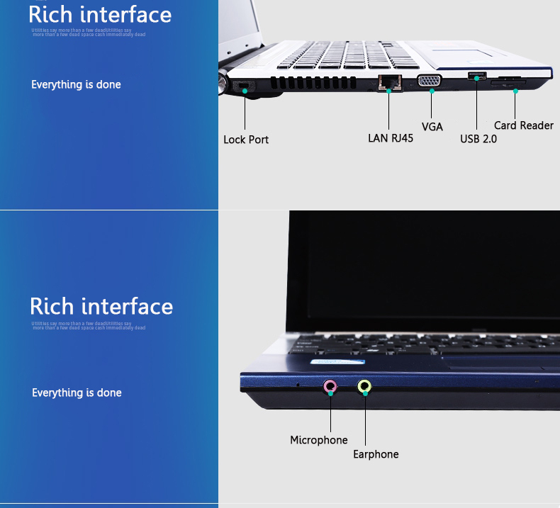 15.6 inch core I7 5th. Laptops computer 8GB ram 1TB or 256G MINI laptop Notebook FREE win10