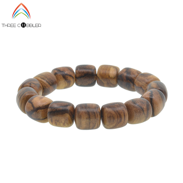 12 15mm Fashion Incense Prayer Beads Meditation Bracelets Barrel Men Wood Wristband Gift