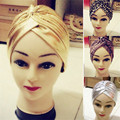 New Fashion Unique Indian Style Stretchable Turban Chemo Headwrap Hair Wrap Cover Women Casual Style Headband